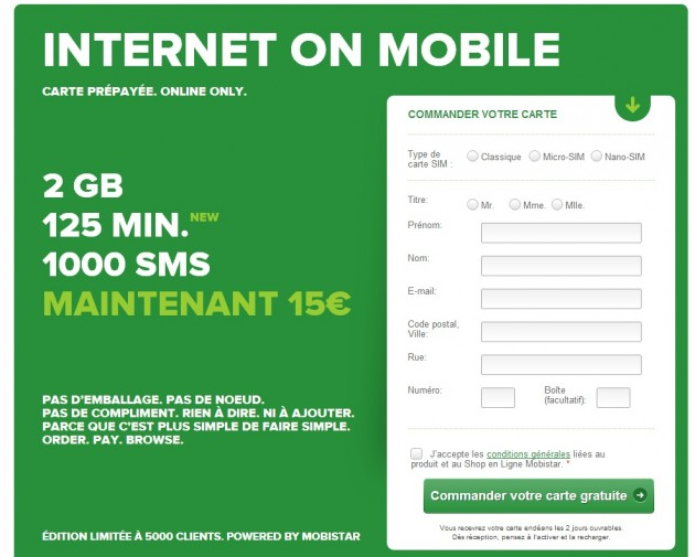 Moibstart internet on mobile