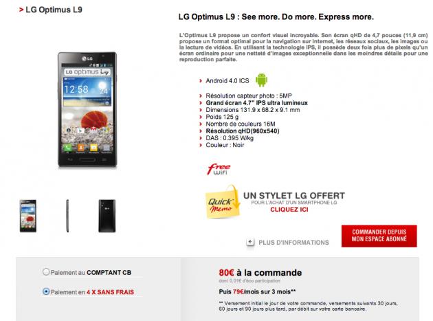 Free Mobile - LG Optimus L9
