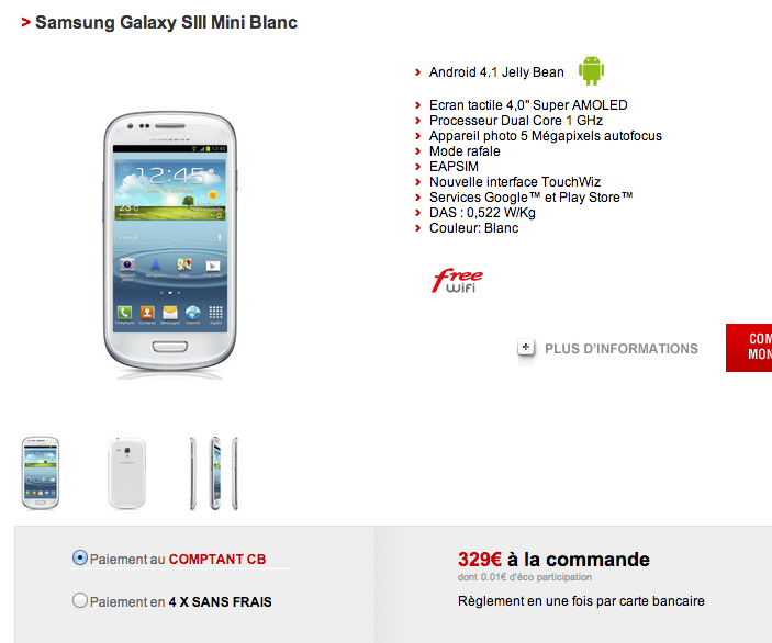 Galaxy S3 Mini - Free Mobile
