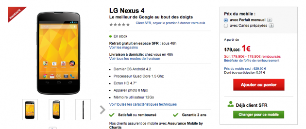 SFR Nexus 4