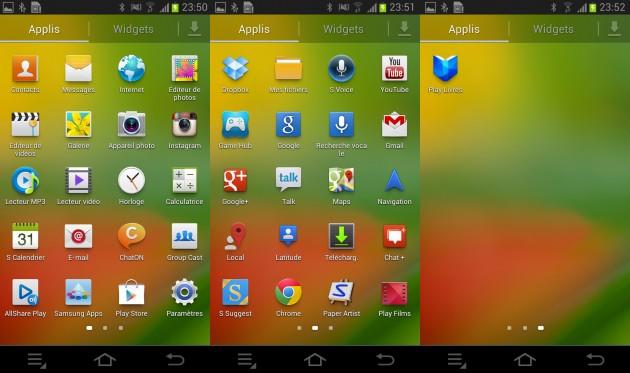 Ecran applis Samsung