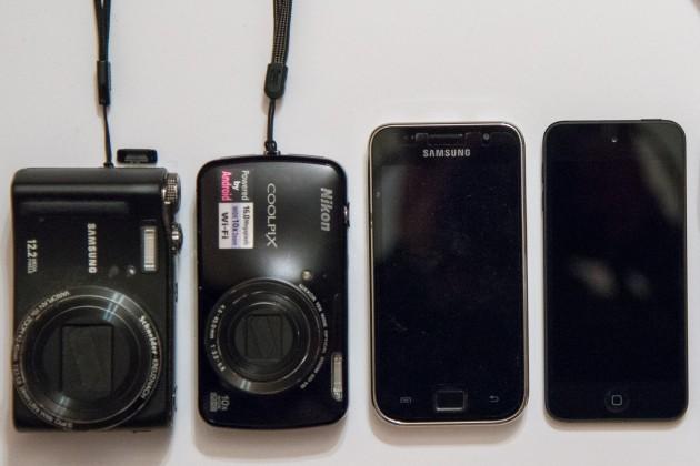 Comparaison de taille du Nikon Coolpix S800c