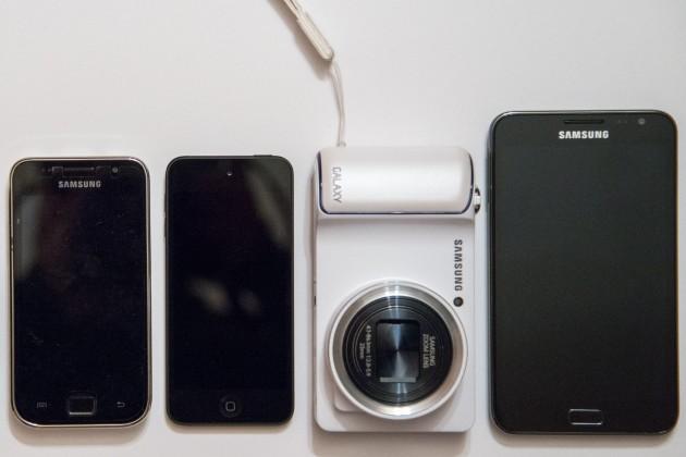 Comparaison de taille du Samsung Galaxy Camera