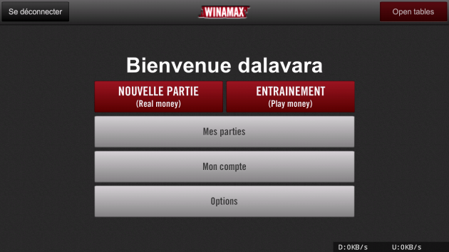 Winamax sur Android