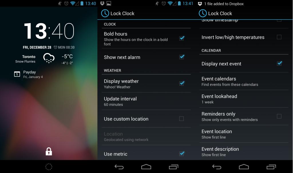 lock clock un widget d 39 horloge pour l 39 cran de verouillage sur cyanogen