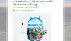 HTC One X : la mise à jour d'Android 4.1 arrive !