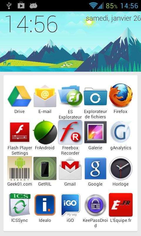 sf launcher app list