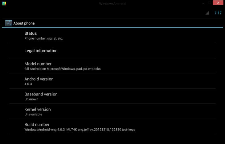 WindowsAndroid позволит запускать Android 4.0 прямо в Windows / Новости sof