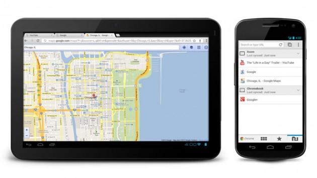 chrome la navigateur de google s 39 offre une mise jour android. Black Bedroom Furniture Sets. Home Design Ideas