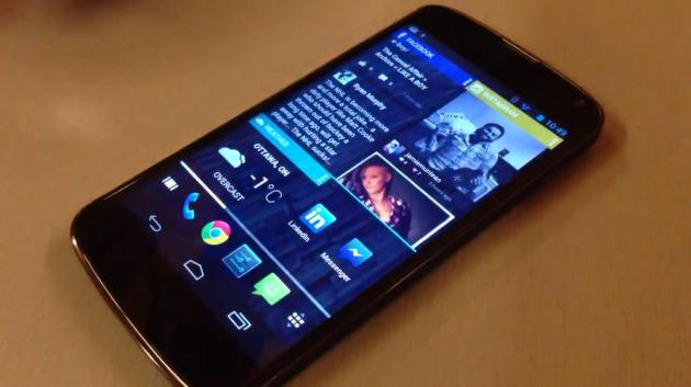 Chameleon sur un smartphone
