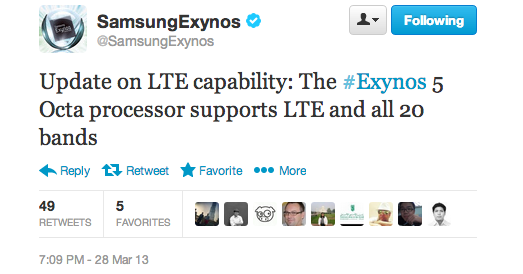android samsung exynos 5 octa lte 4g