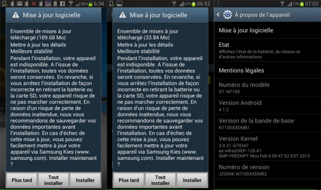 mise jour du samsung galaxy note 2 en 4 1 2 chez bouygues telecom. Black Bedroom Furniture Sets. Home Design Ideas