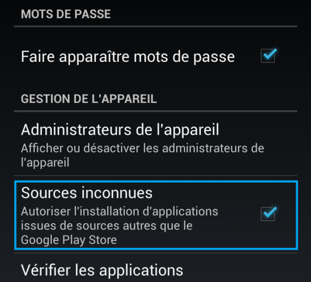 android 4.2.2 sources inconnues