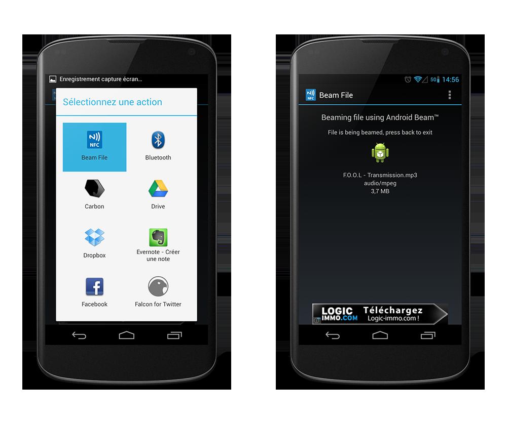 file beam une application pour envoyer n 39 importe quel fichier gr ce android beam frandroid. Black Bedroom Furniture Sets. Home Design Ideas