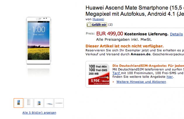 huawei ascend mate allemagne germany