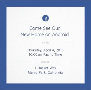Facebook : une invitation