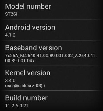 xperia j android 4.1