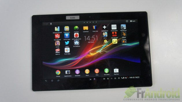 test de la Xperia Tablet Z