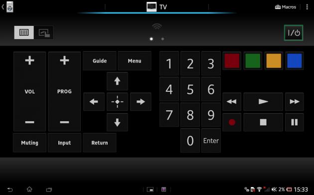 télécommande - Test de la Xperia Tablet Z