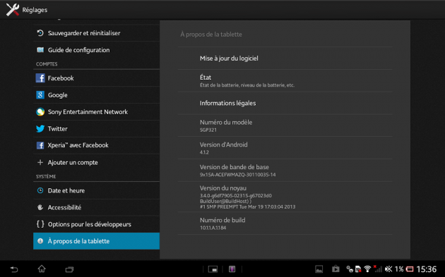 Android - Test de la Xperia Tablet Z