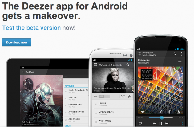 android deezer beta