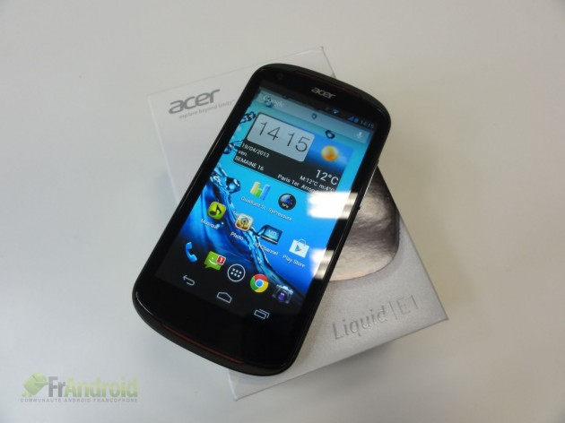 android acer liquid e1 pack