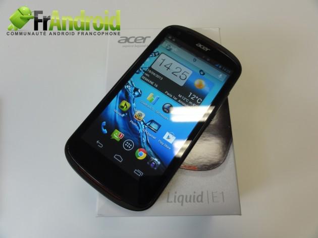 android acer liquid e1 prise en main 1