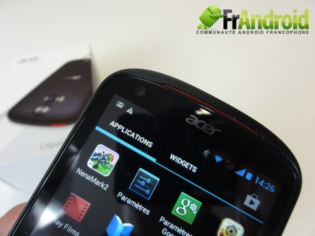 android acer liquid e1 prise en main 2
