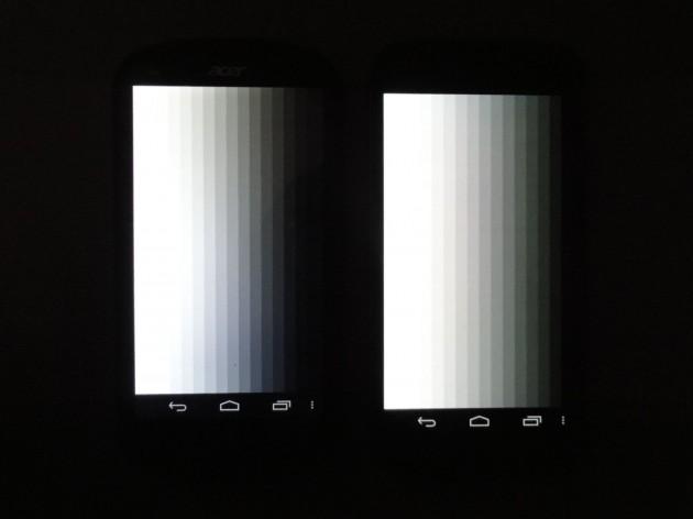android acer liquid e1 qualité écran 6