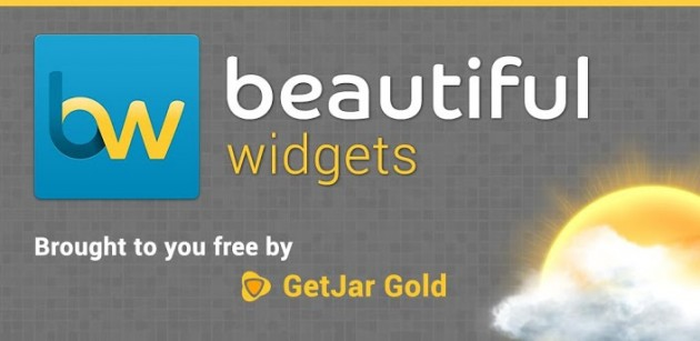 android beautiful widgets gold