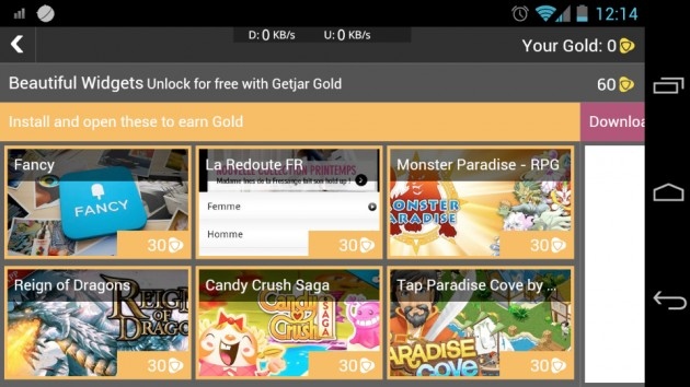 android beautiful widgets gold getjar unlock 1