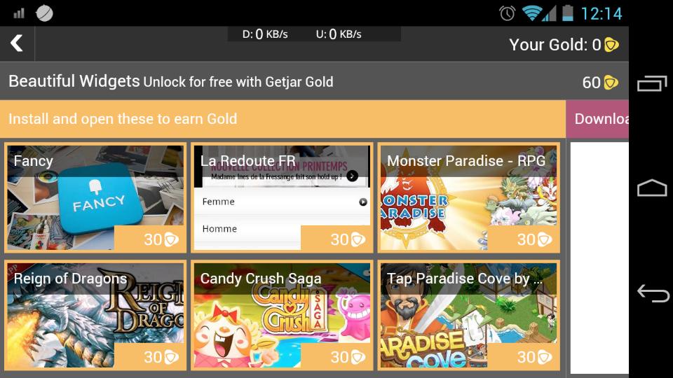 Widgets Gold, une version gratuite du célèbre widget météo