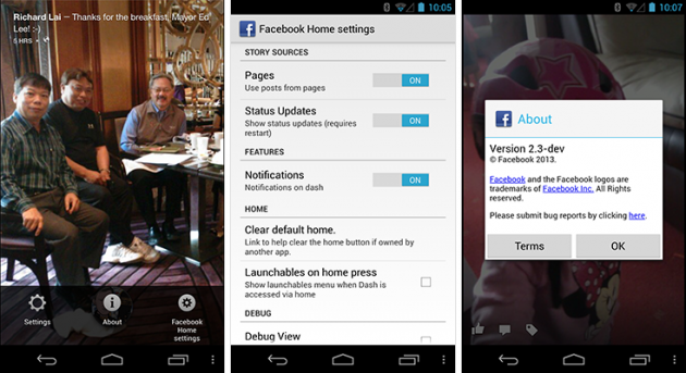 android facebook home 2.3-dev