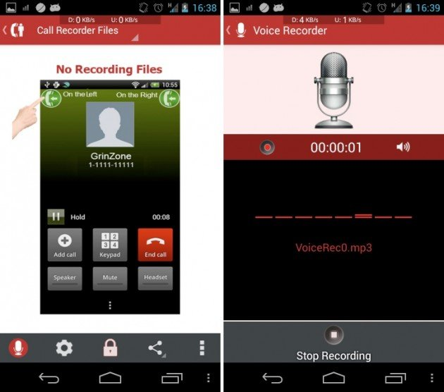 android mp3 incall recorder & voice 0