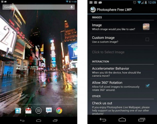 android photosphere live wallpaper images 1