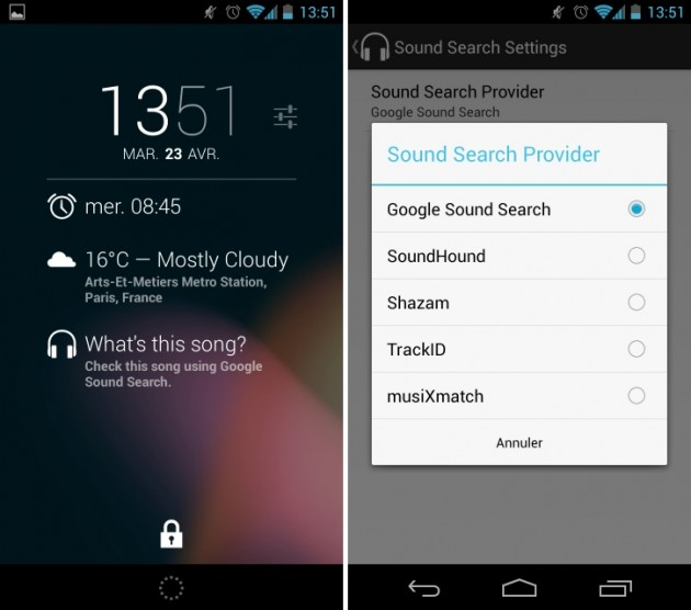 android sound search for dashclock screenshots 0