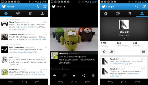 android twitter 4.0 mise à jour