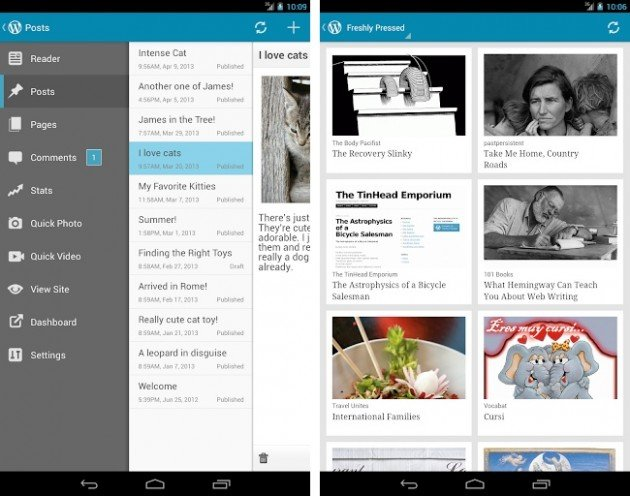 android wordpress 2.3 tablette 7 pouces