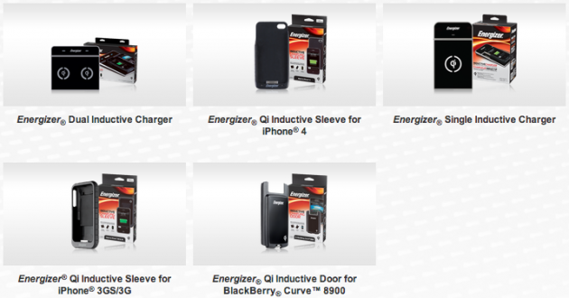 qi recharge sans fil energizer