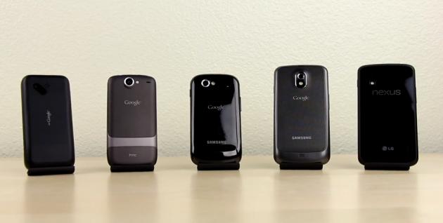 évolution des google phones en vidéo