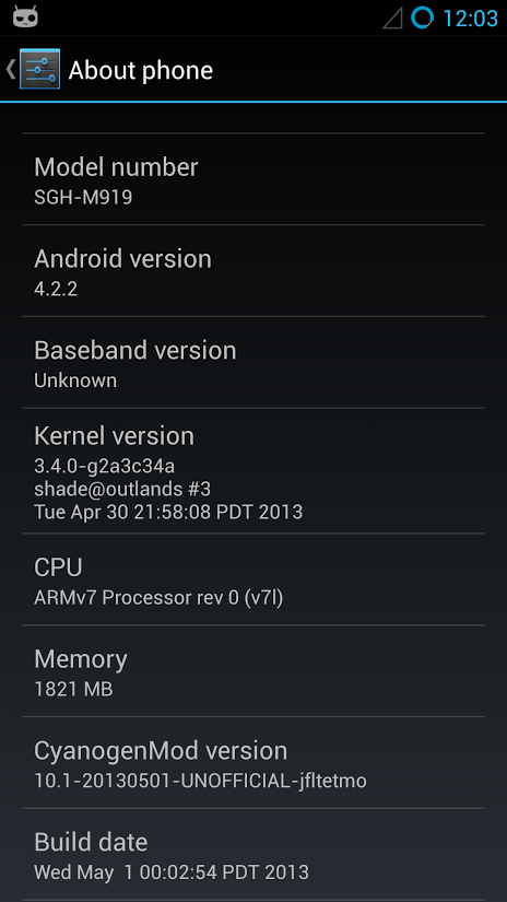 android galaxy s4 cyanogenmod 10.1