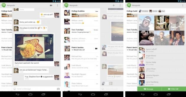 android hangouts by google première image de démo