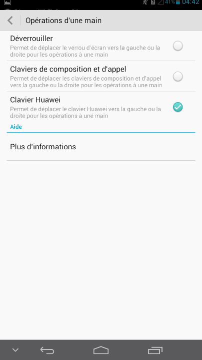 android huawei ascend mate clavier déplacable