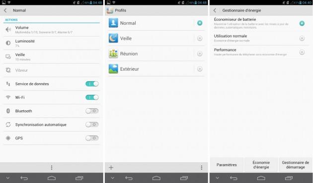android huawei ascend mate paramètres de profil
