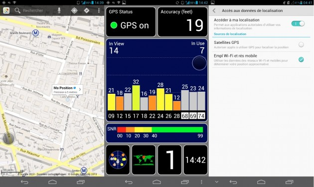 android huawei ascend mate test fixation gps