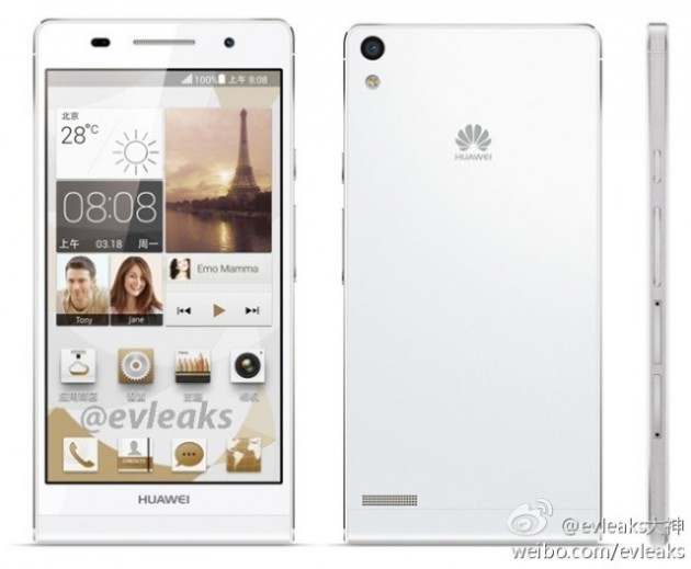 android huawei ascend p6 fuite evleaks 2