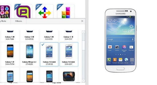 android samsung galaxy s4 mini gt-i9195 0
