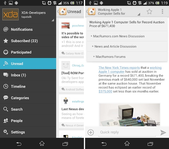android tapatalk 4 new ui nouvelle inteface 26 mai 2013