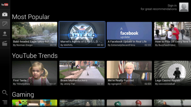 android youtube for google tv 1.7