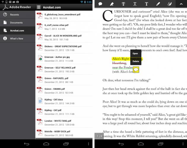 Android Adobe Reader 10.6.0
